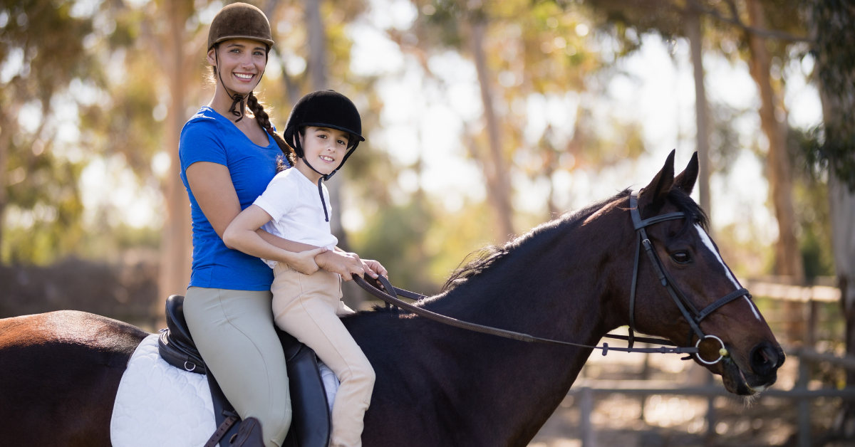summer activity - horseback riding